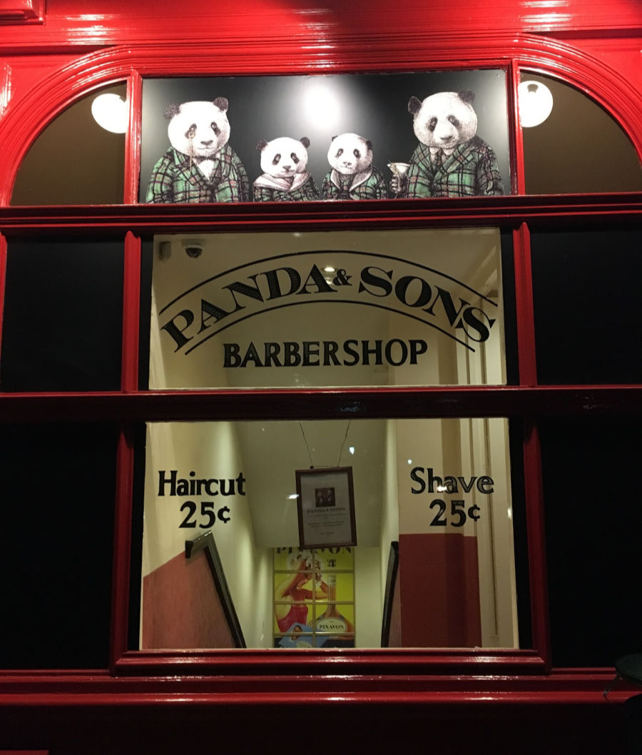 Entrance to Panda & Sons