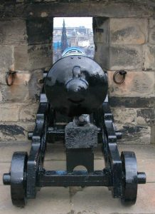 Canon at Edinburgh castle