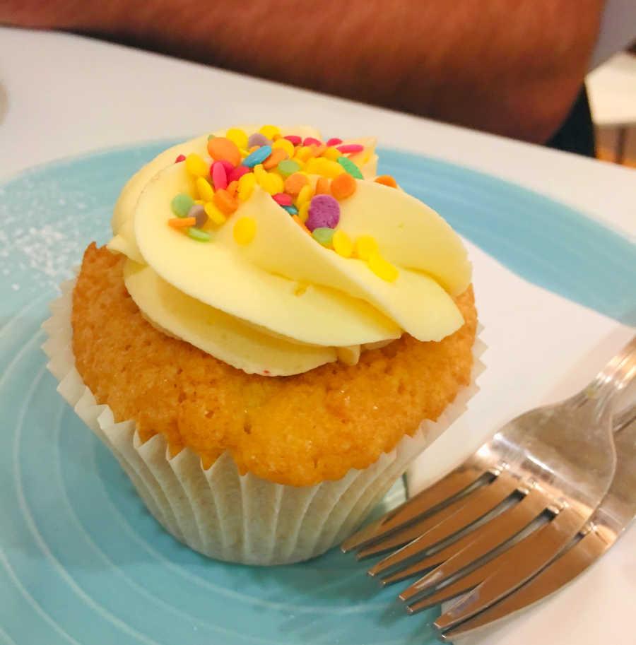 Cupcake at Mimi's in Edinburgh