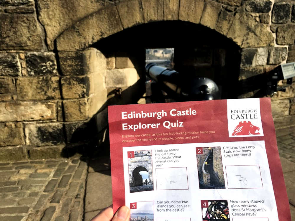 Kids quiz at Edinburgh Castle
