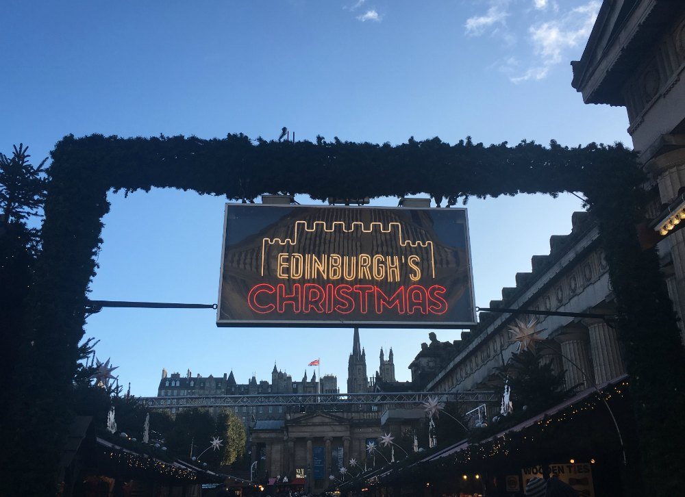 Edinburgh Xmas Market Sign