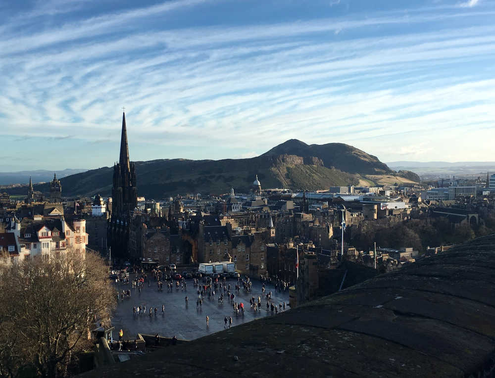 View towards Arthur Seat from Edinburgh Castle