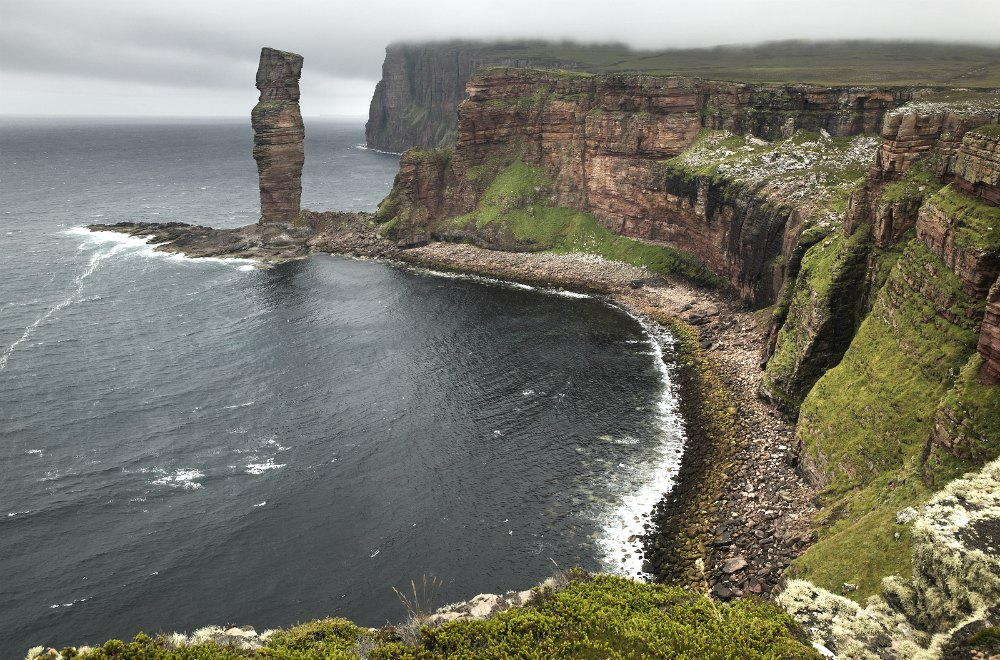 Old man of Hoy, Orkney. Scottish landscape in Orkney.