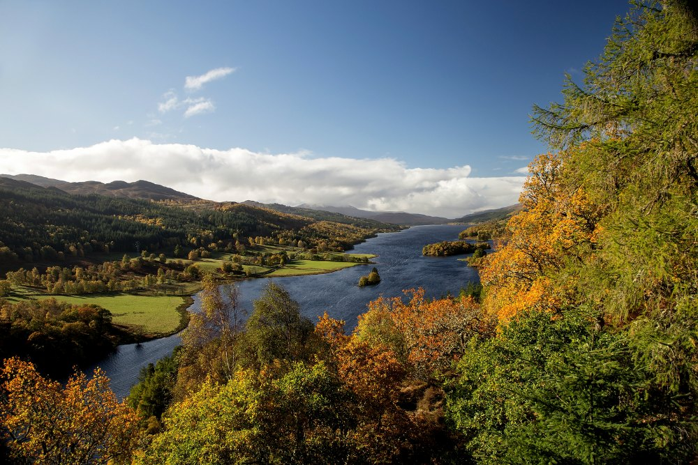 The Queens View over Loch Tummel at Pitlochry Perthshire Scotland