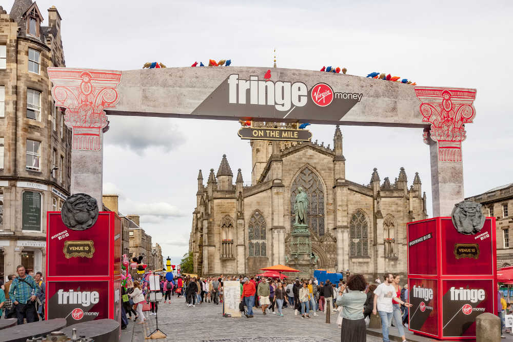 Edinburgh Fringe, Royal Mile, Scotland