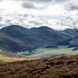 Scenic View of Pentland Hills in Edinburgh, Scotland