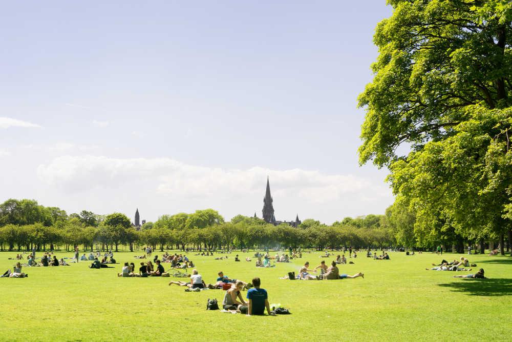The Meadows Park in Edinburgh