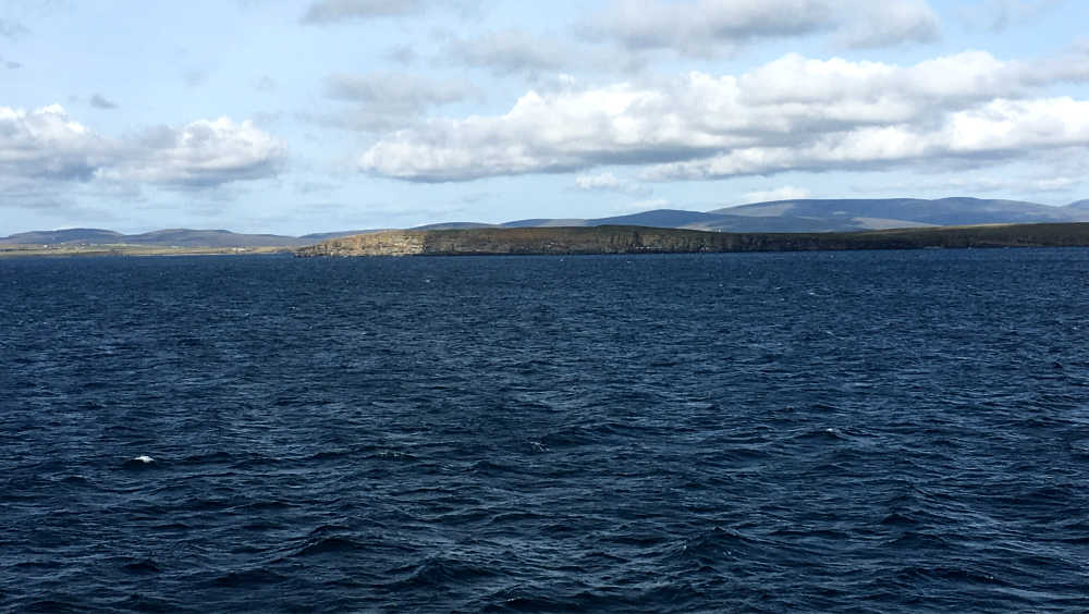 View across to mainland Orkney