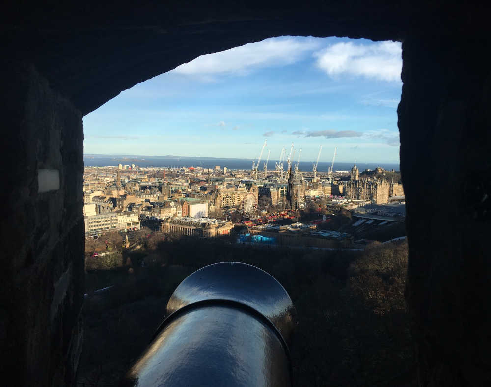 Edinburgh castle - view from canon