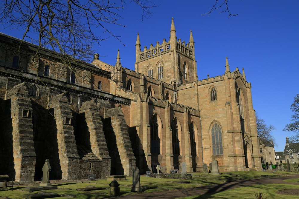 13th Century Dunfermline Abbey in Fife Scotland