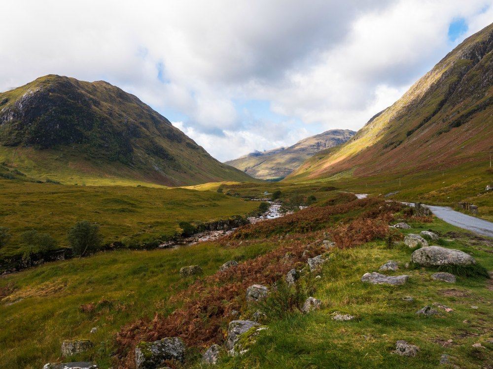 Glen Etive in the Scottish Highlands, Scotland