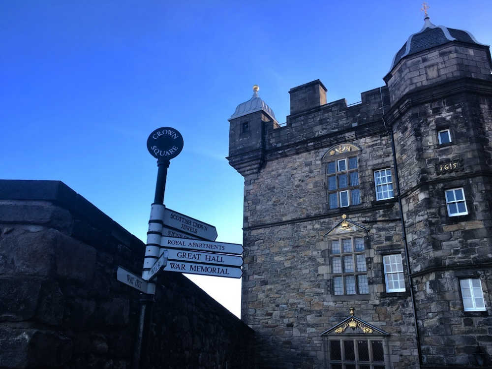 Signs within Edinburgh Castle