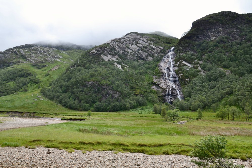 Steall Falls in Scotland