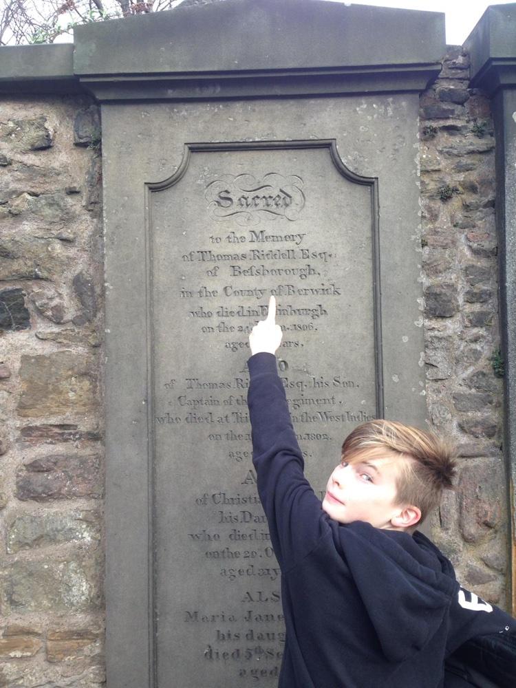Thomas Riddell tomb in Greyfriars kirkyard