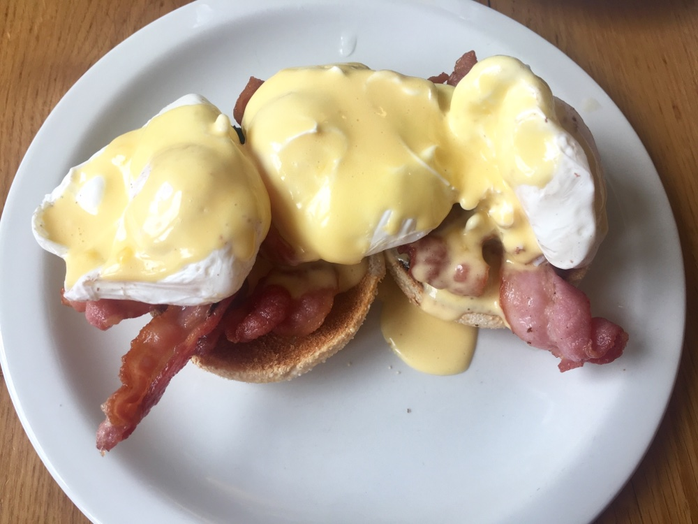 Eggs Benedict on Broughton Street, Edinburgh