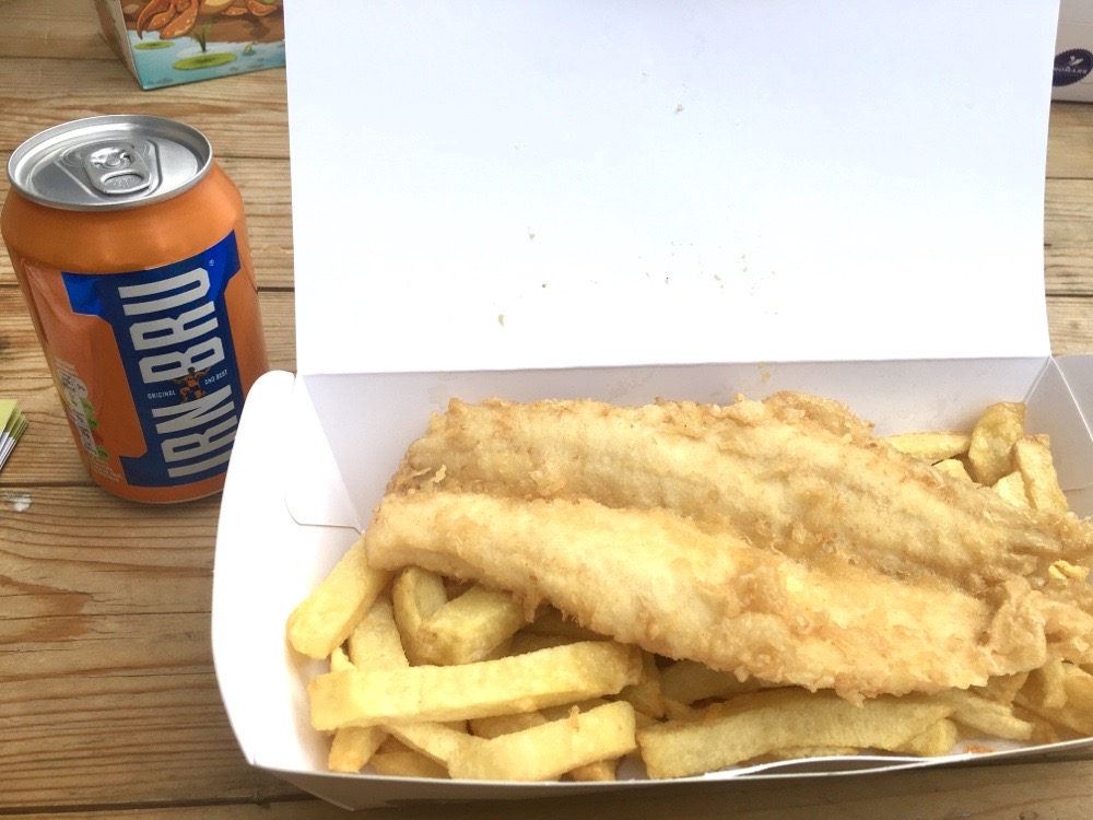 Fish & chips from Cromars in St Andrews