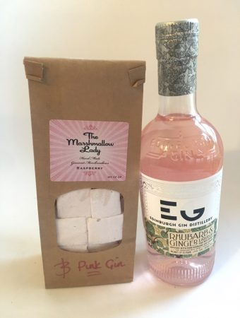 Gifts from Edinburgh - gin + marshmallows