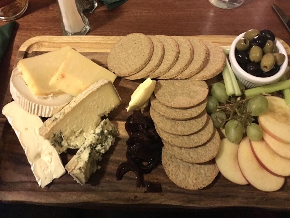 traditional Scottish platter at the Cumberland bar