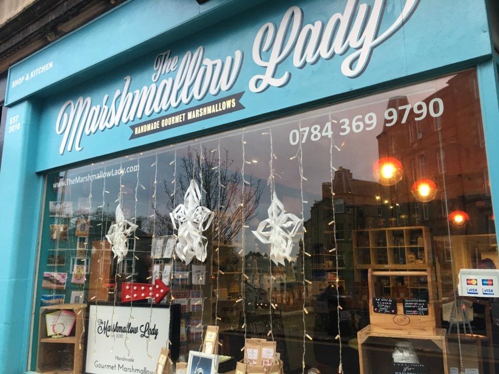 The Marshmallow Lady in Edinburgh