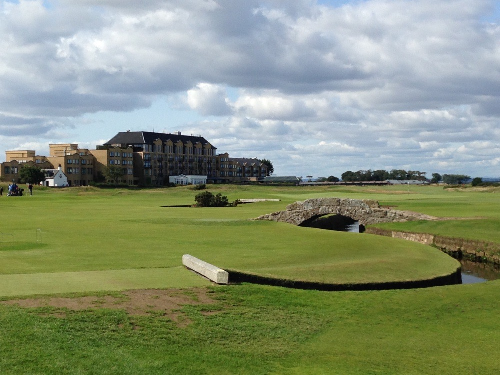 The Old course hotel in the distance