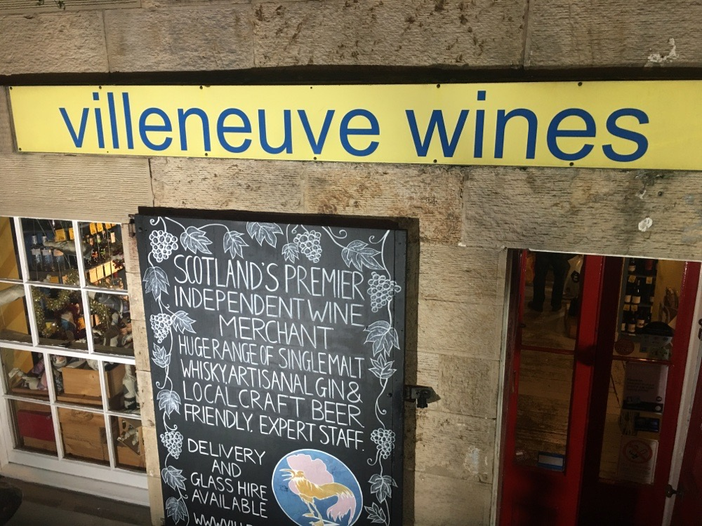 Villeneuve Wines on Broughton St, Edinburgh