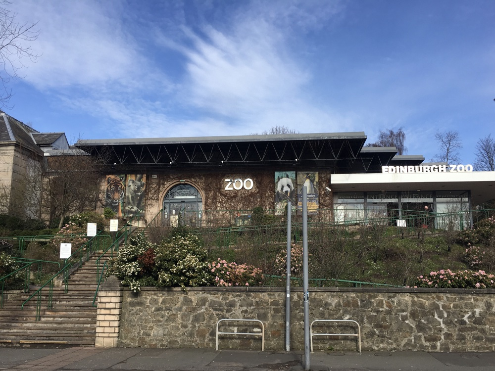 Edinburgh zoo - from the road